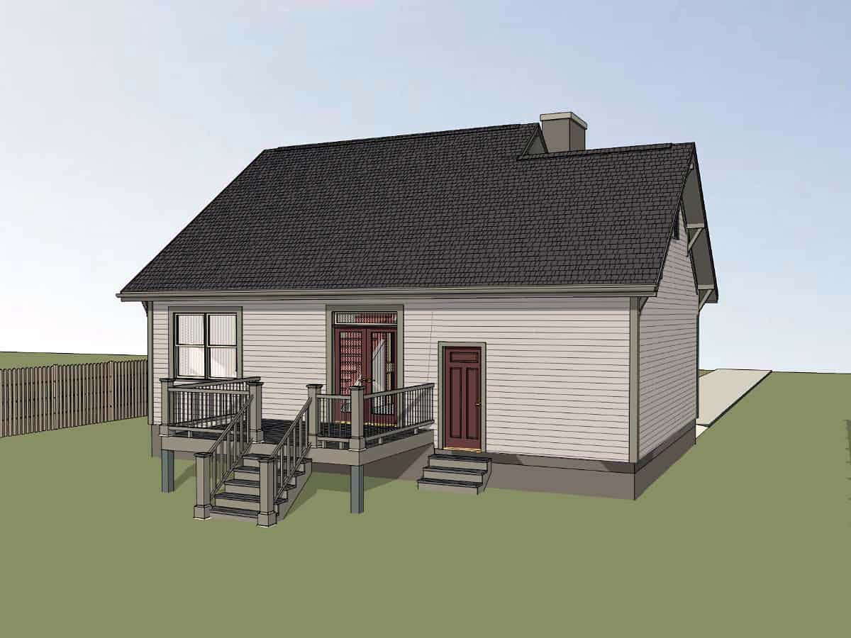 Bungalow, Cottage House Plan 75536 with 3 Beds, 2 Baths, 1 Car Garage Picture 2