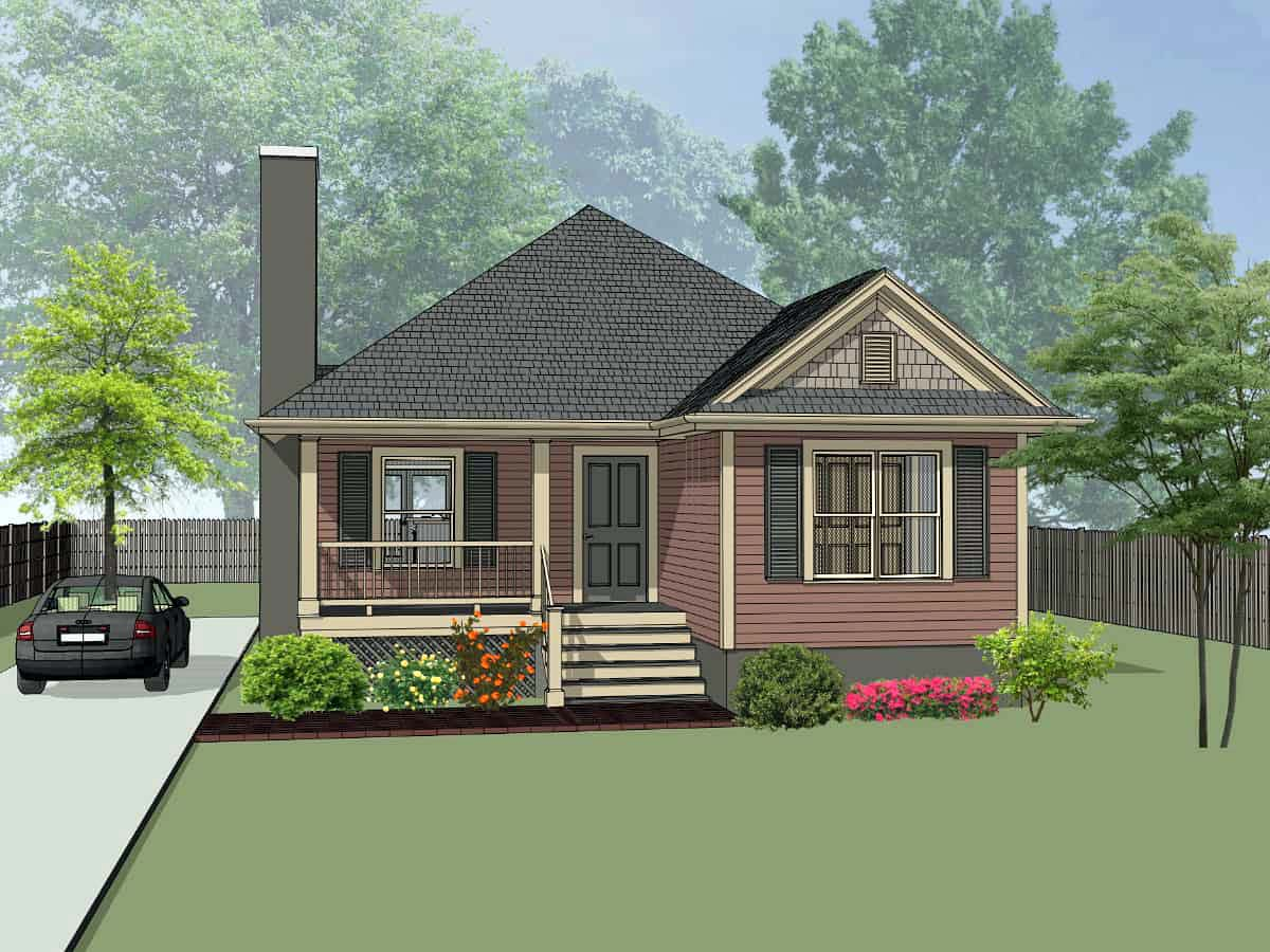 Bungalow, Cottage House Plan 75537 with 3 Beds, 2 Baths Front Elevation