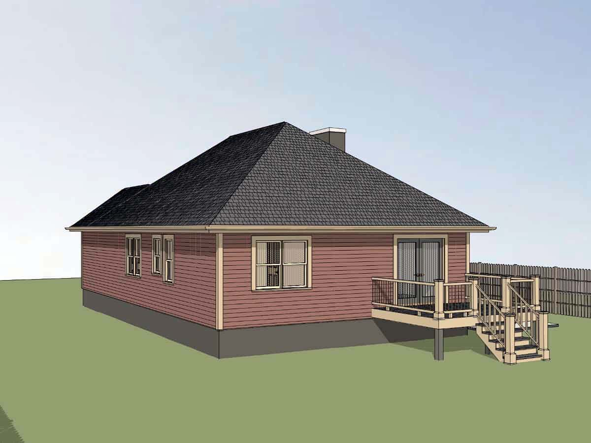 Bungalow, Cottage House Plan 75537 with 3 Beds, 2 Baths Picture 1