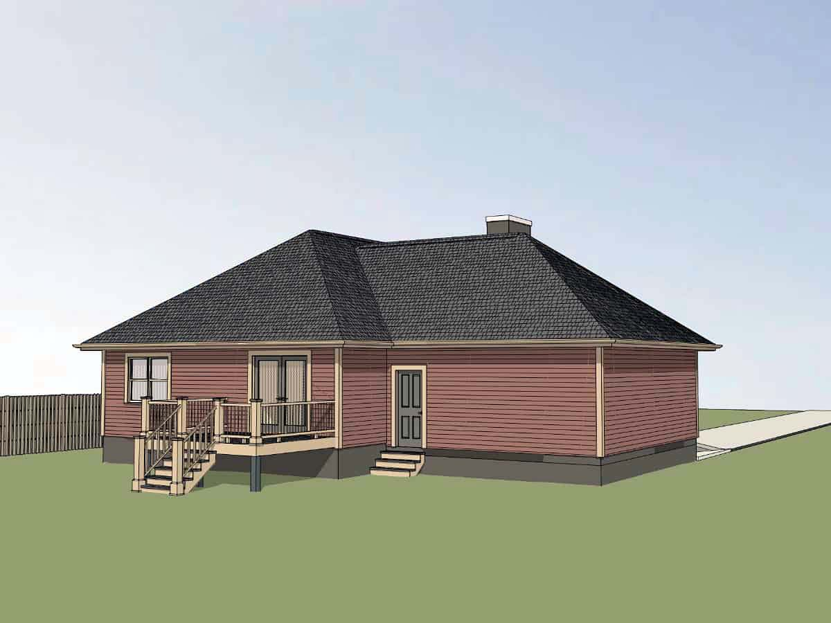 Cottage, Traditional House Plan 75539 with 3 Beds, 2 Baths, 1 Car Garage Picture 2