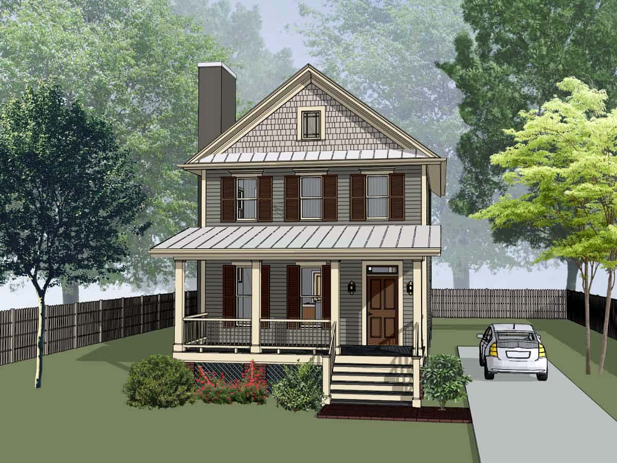 Colonial, Southern House Plan 75540 with 3 Beds , 3 Baths Elevation