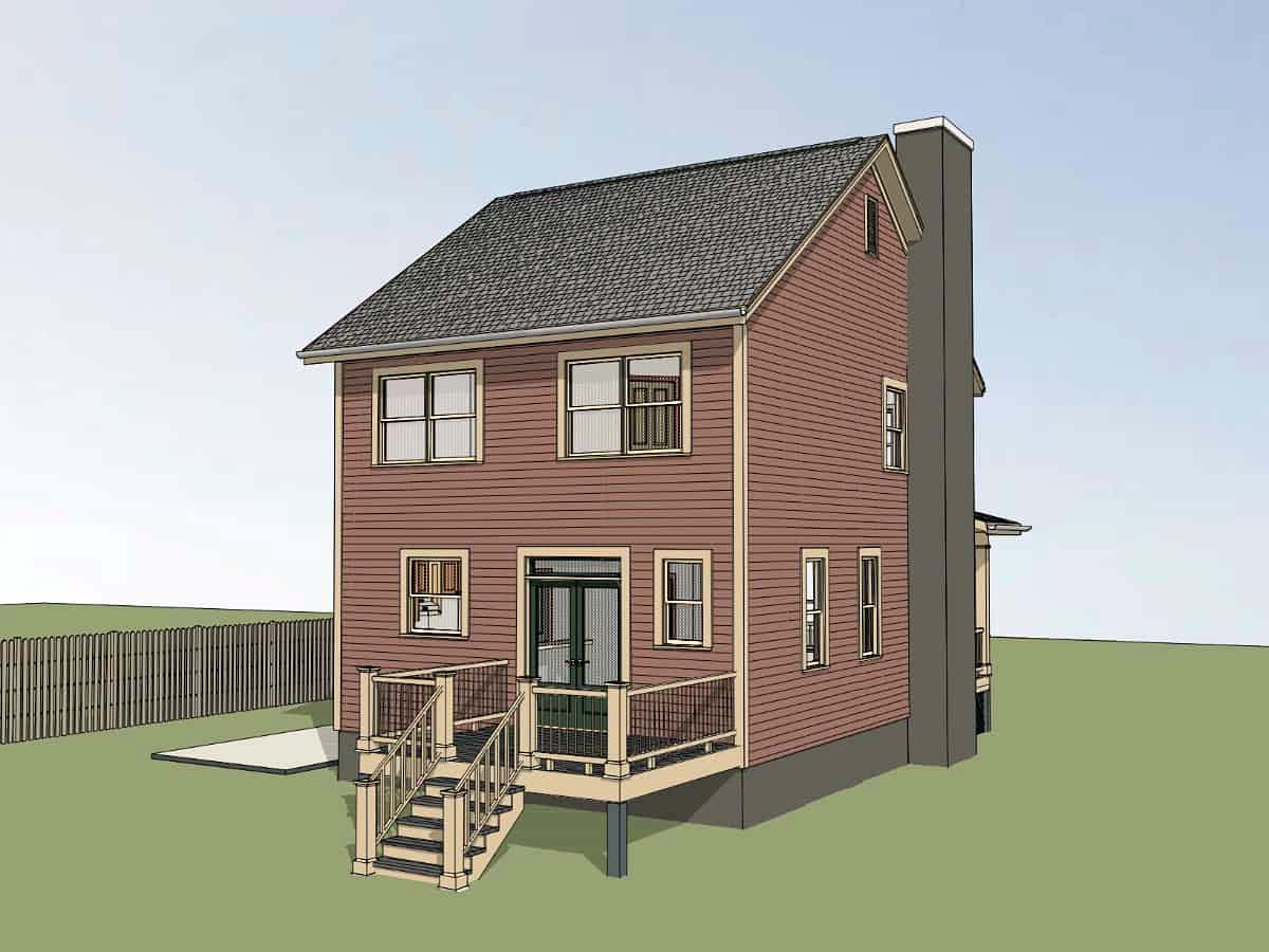 Colonial, Country, Southern House Plan 75541 with 3 Beds, 3 Baths Picture 2