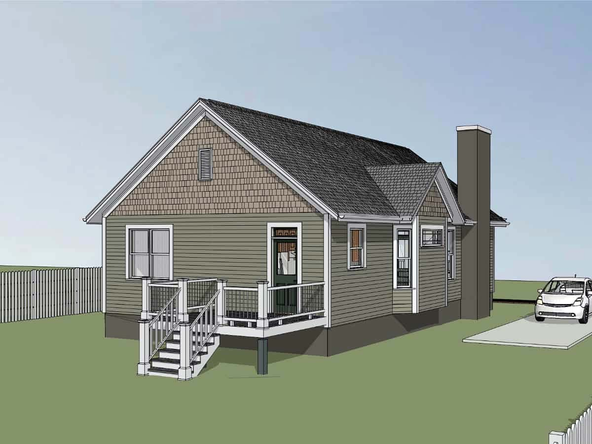 Bungalow, Cottage House Plan 75542 with 2 Beds, 2 Baths Picture 2