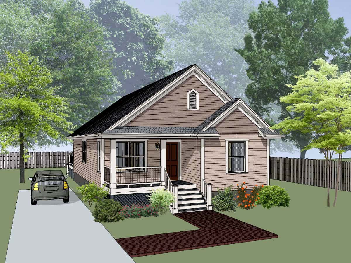 Bungalow, Cottage House Plan 75543 with 4 Beds , 2 Baths Elevation