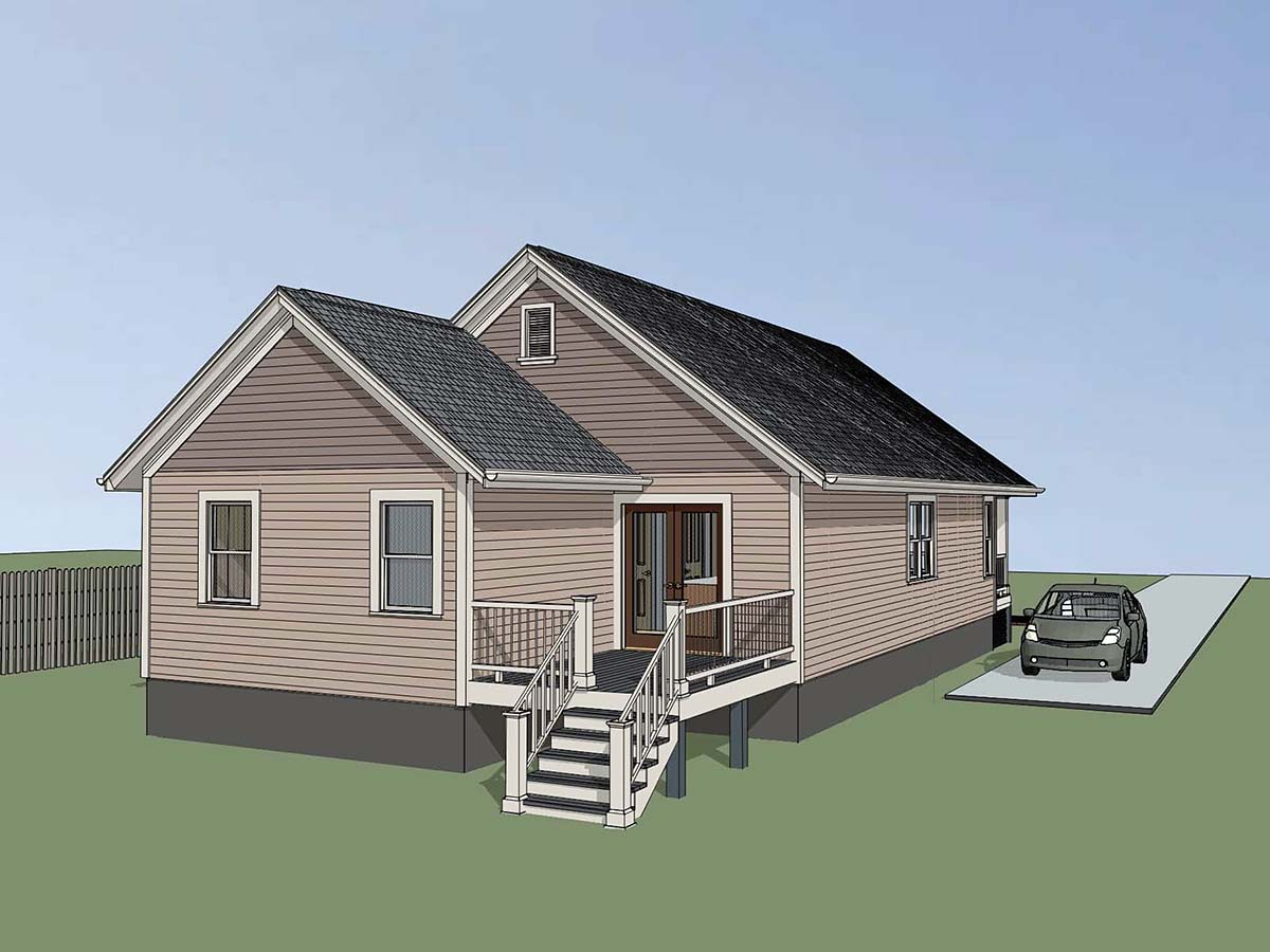 Bungalow, Cottage House Plan 75543 with 4 Beds, 2 Baths Picture 2