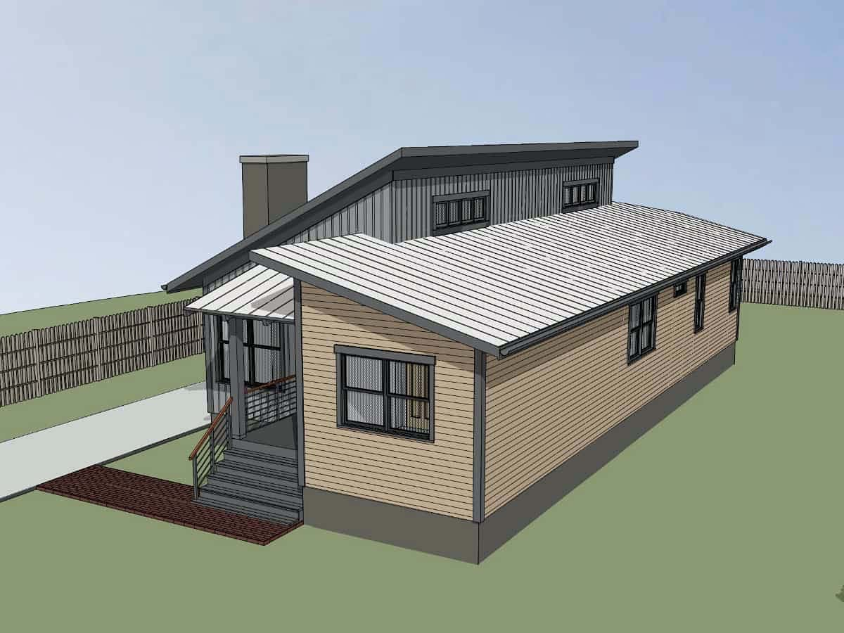 Contemporary House Plan 75550 with 3 Beds, 2 Baths Picture 1