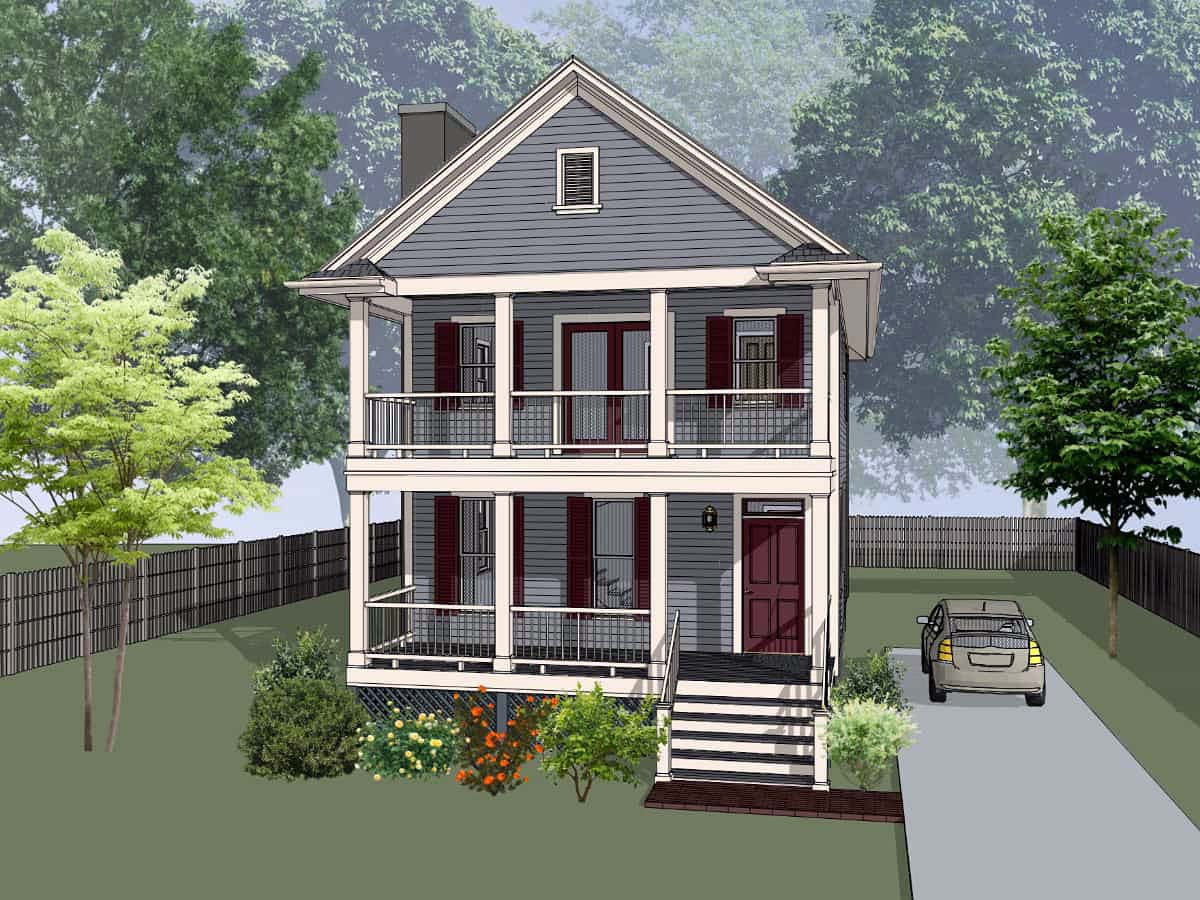 Colonial, Southern House Plan 75552 with 3 Beds, 3 Baths Elevation