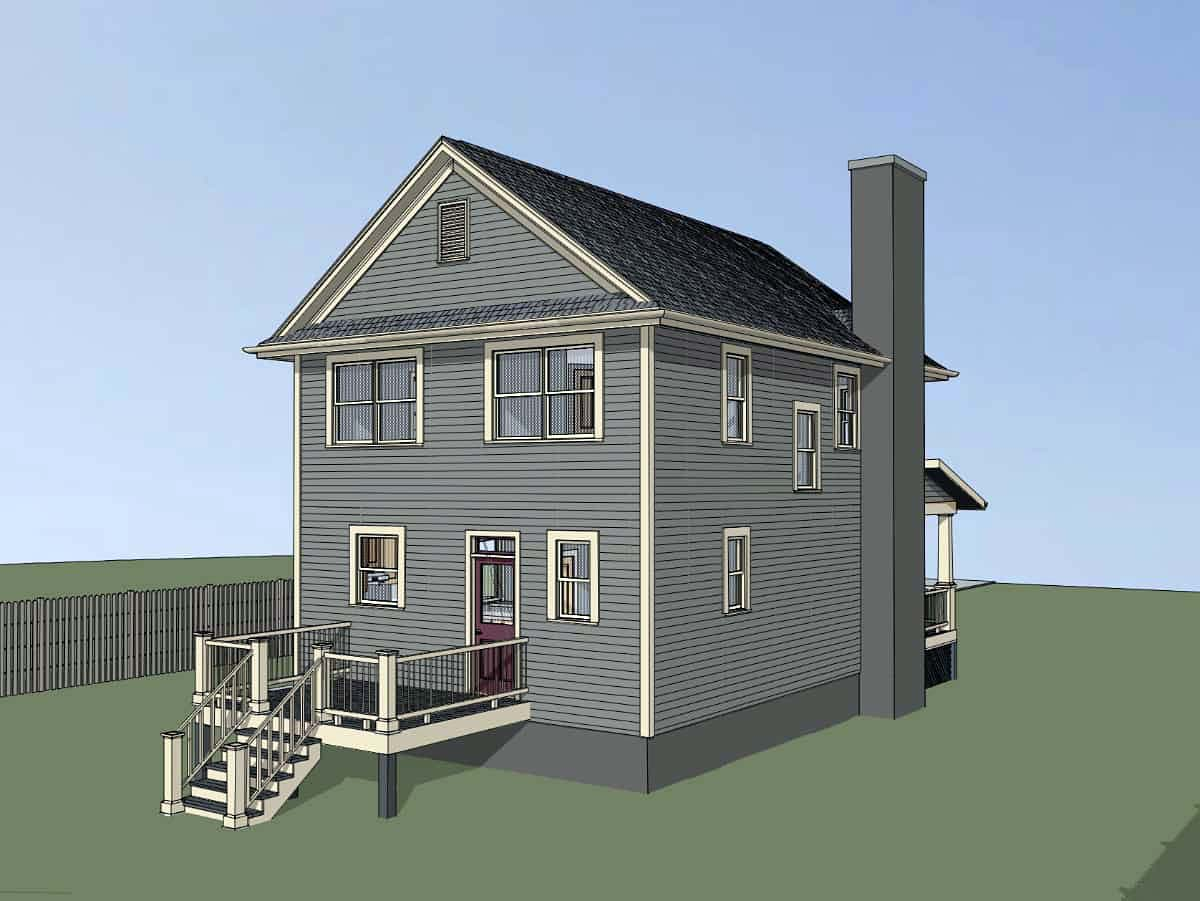 Colonial, Country House Plan 75553 with 3 Beds, 3 Baths Picture 2