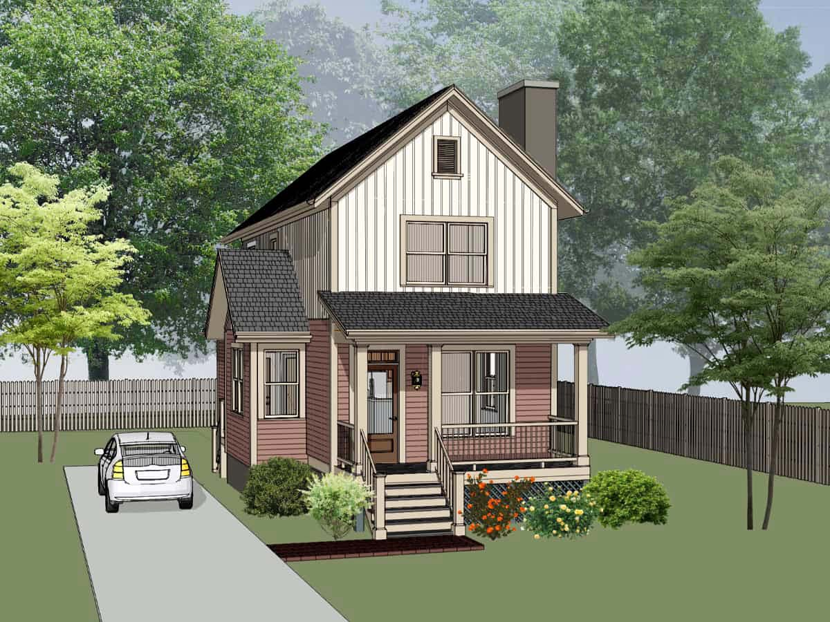 Colonial, Country, Southern House Plan 75554 with 3 Beds, 2 Baths Elevation