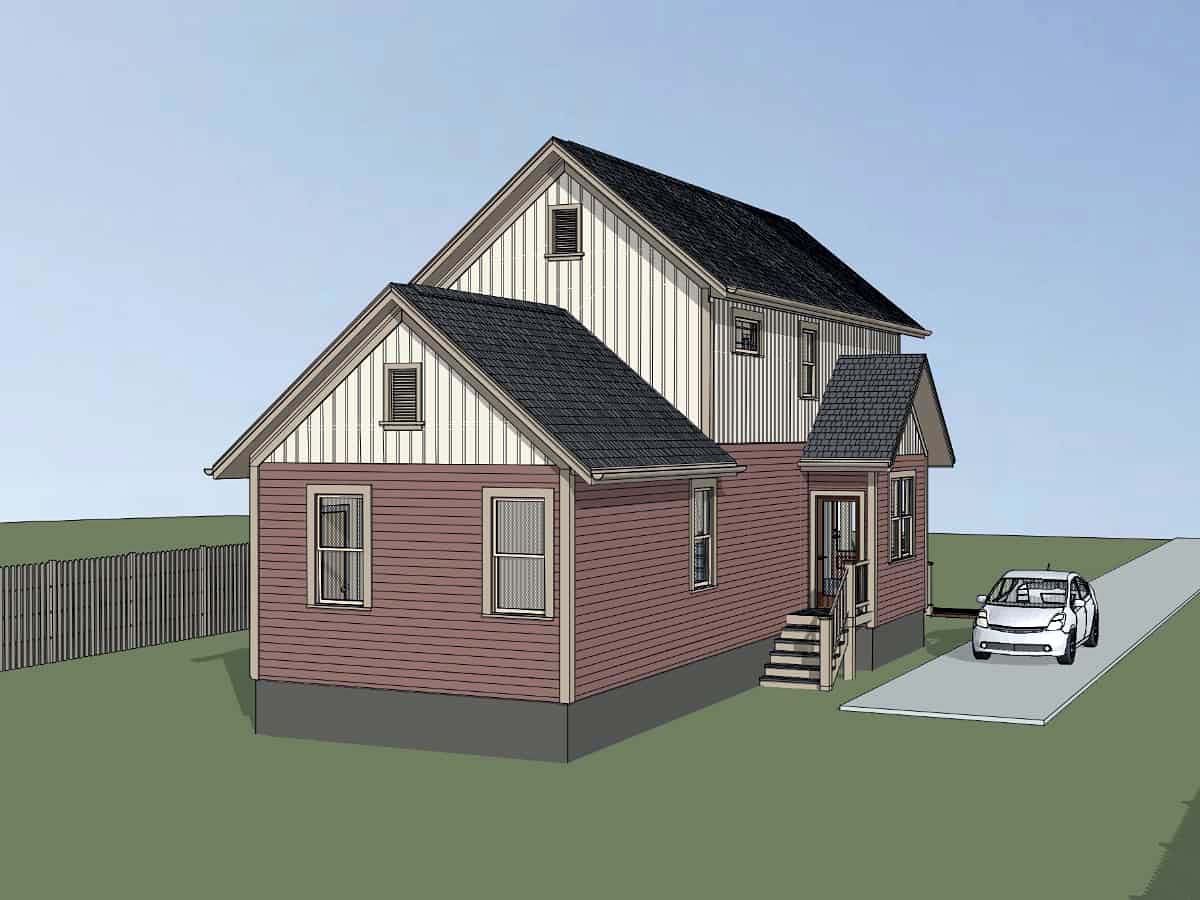 Colonial, Country, Southern House Plan 75554 with 3 Beds, 2 Baths Picture 2