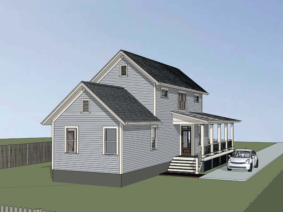 Colonial, Country, Southern House Plan 75555 with 3 Beds, 2 Baths Picture 2