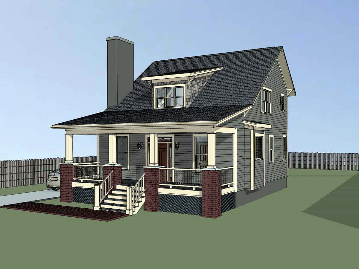 Bungalow, Cottage House Plan 75556 with 4 Beds, 2 Baths Picture 1