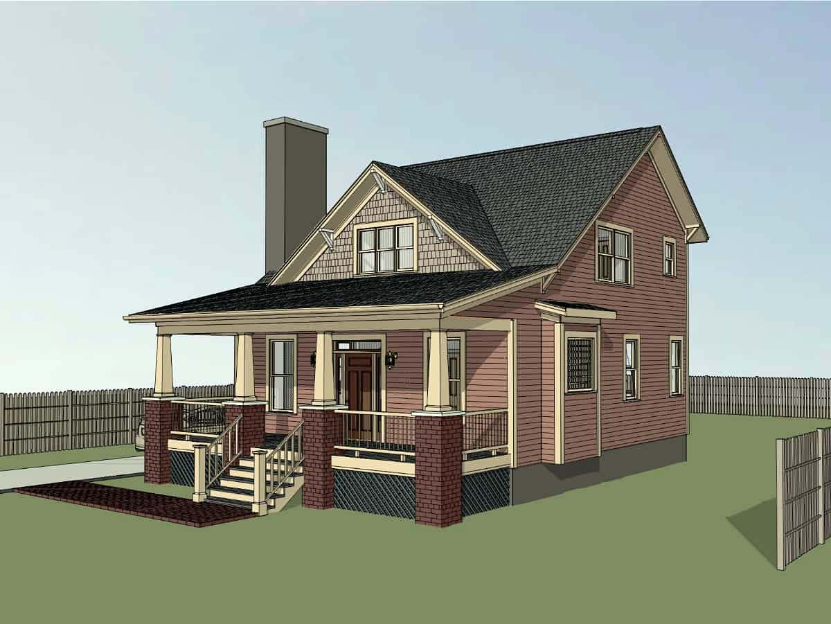 Bungalow, Cottage, Craftsman House Plan 75557 with 4 Beds, 2 Baths Picture 1