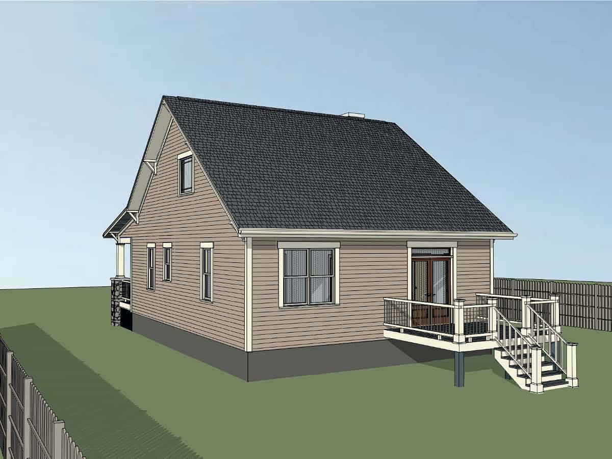 Bungalow, Cottage House Plan 75558 with 3 Beds, 2 Baths Picture 1