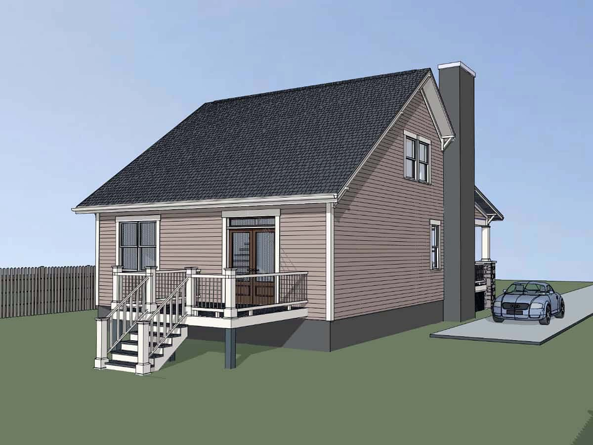 Bungalow, Cottage House Plan 75558 with 3 Beds, 2 Baths Picture 2