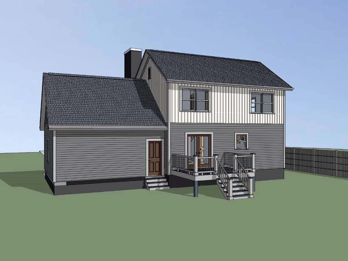 Bungalow, Colonial, Traditional House Plan 75559 with 4 Beds, 2 Baths, 2 Car Garage Picture 1