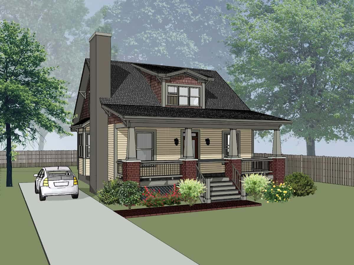 Bungalow, Cottage, Craftsman House Plan 75561 with 3 Beds, 2 Baths Elevation