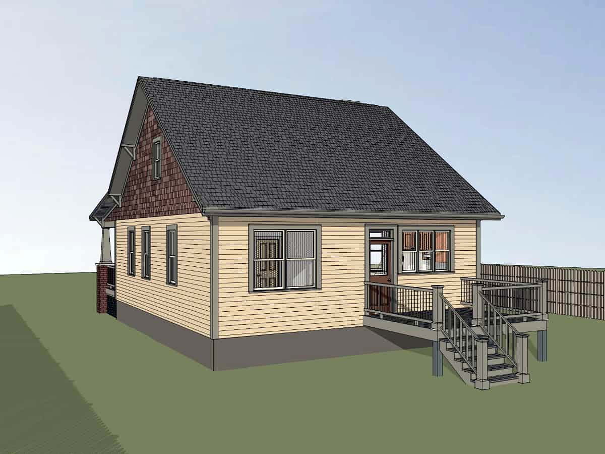 Bungalow, Cottage, Craftsman House Plan 75561 with 3 Beds, 2 Baths Picture 1