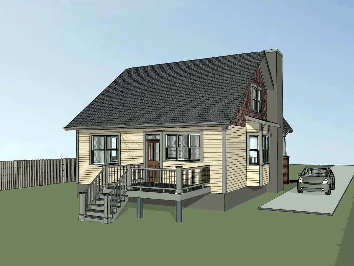Bungalow, Cottage, Craftsman House Plan 75561 with 3 Beds, 2 Baths Picture 2