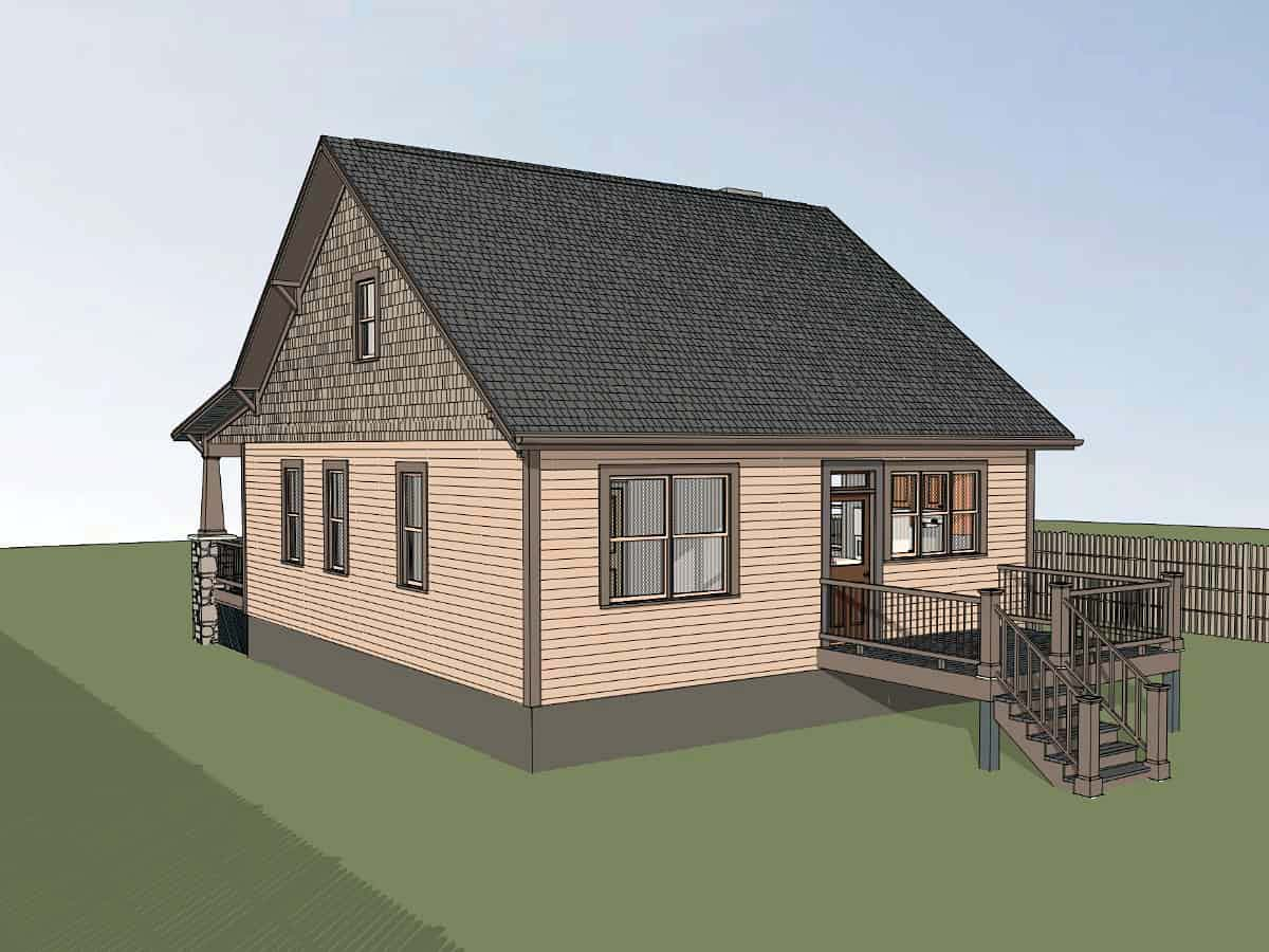 Bungalow, Cottage, Craftsman House Plan 75562 with 3 Beds, 2 Baths Picture 1