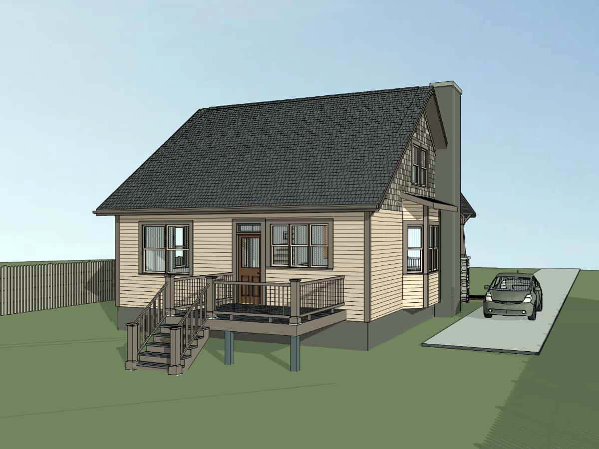 Bungalow, Cottage, Craftsman House Plan 75562 with 3 Beds, 2 Baths Picture 2