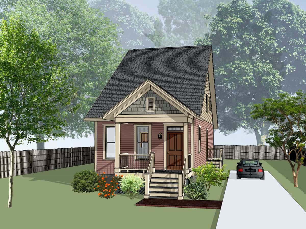 Cottage, Country House Plan 75564 with 4 Beds, 2 Baths Elevation