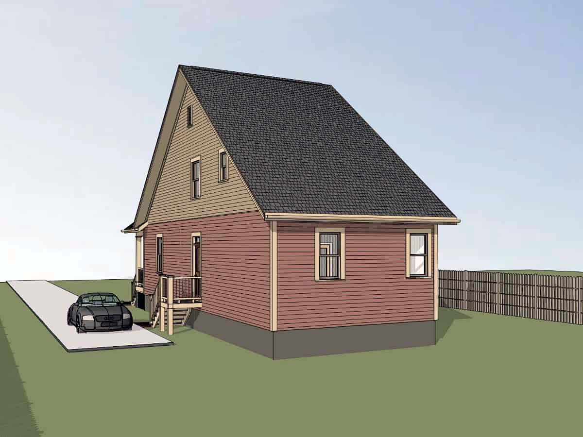 Cottage, Country House Plan 75564 with 4 Beds, 2 Baths Picture 1