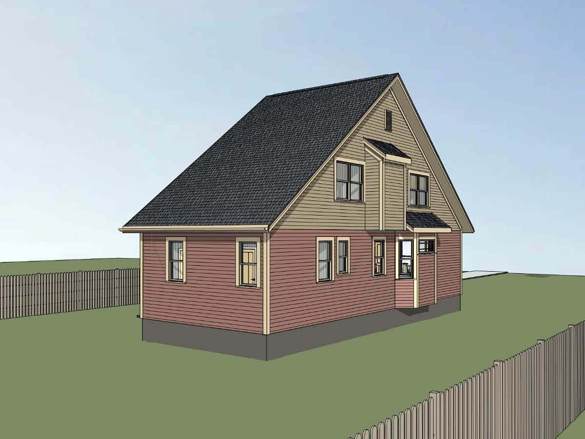 Cottage, Country House Plan 75564 with 4 Beds, 2 Baths Picture 2