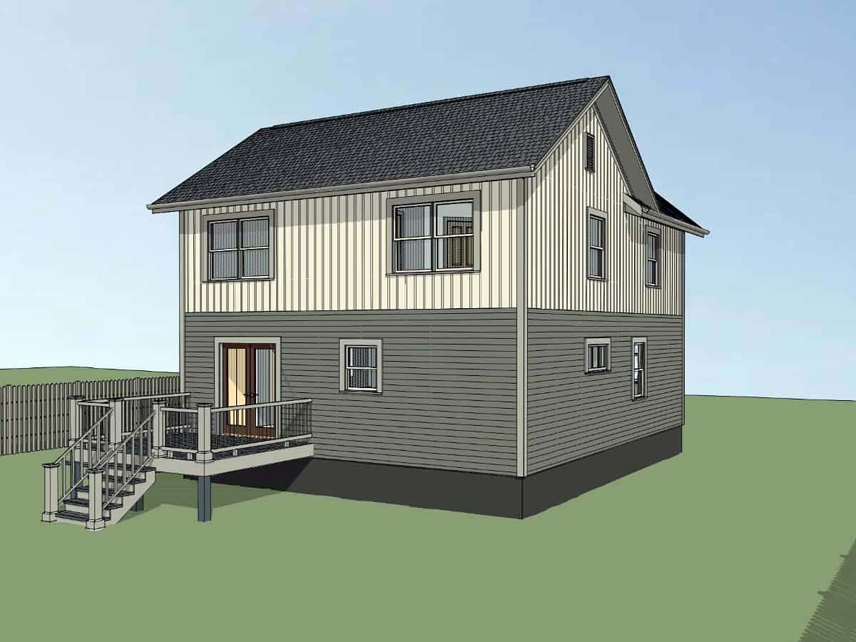 Bungalow, Colonial, Traditional House Plan 75565 with 4 Beds, 2 Baths Picture 2