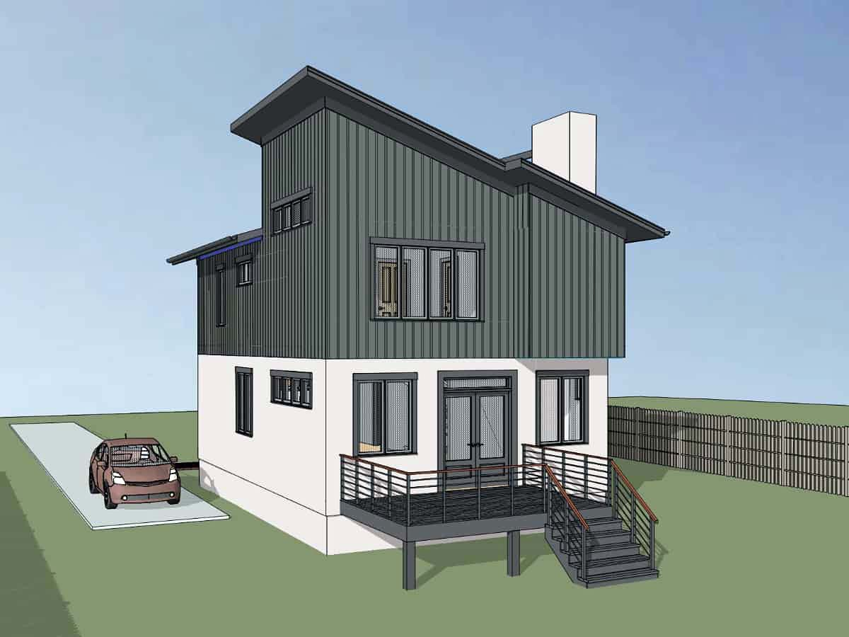 Contemporary, Cottage, Modern House Plan 75566 with 3 Beds, 3 Baths Picture 1