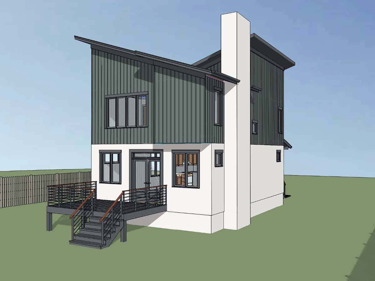 Contemporary, Cottage, Modern House Plan 75566 with 3 Beds, 3 Baths Picture 2
