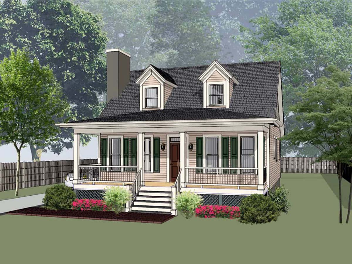 Bungalow, Cottage, Country House Plan 75568 with 3 Beds, 3 Baths Elevation