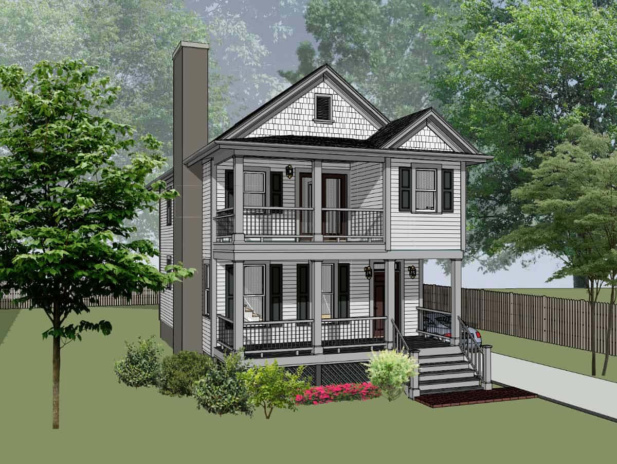 Colonial, Country, Southern House Plan 75575 with 3 Beds, 3 Baths Front Elevation