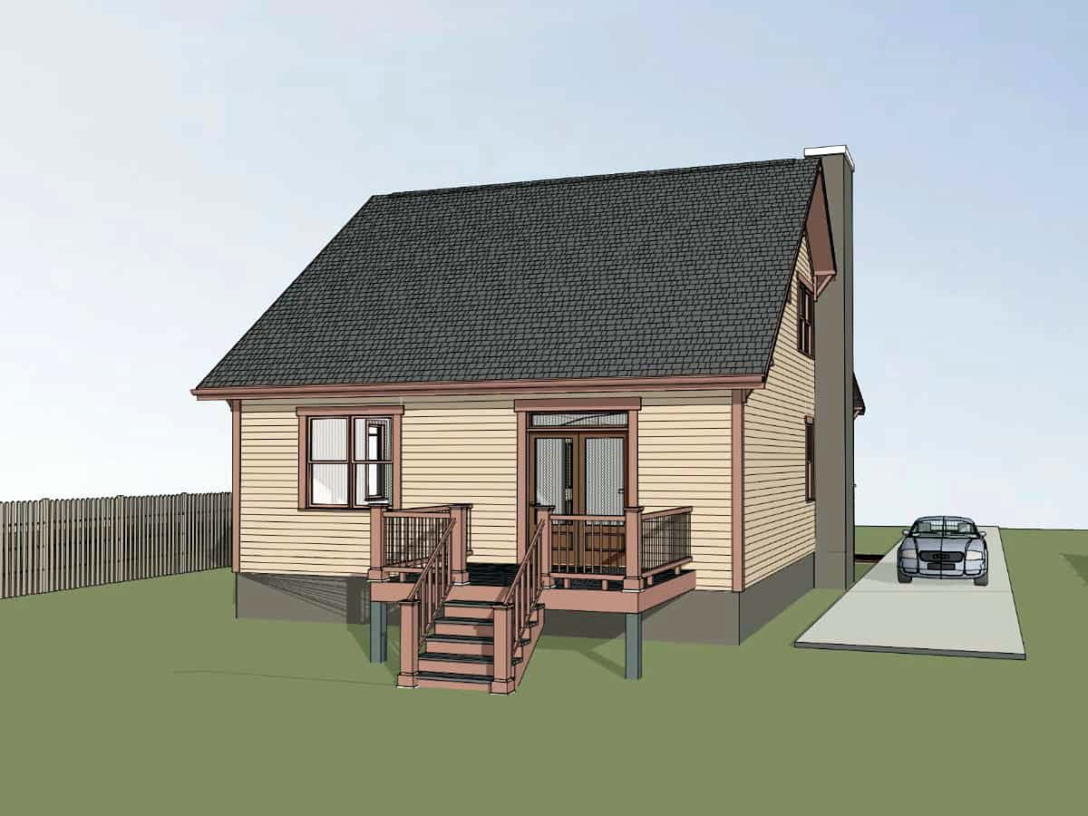 Bungalow, Cottage, Craftsman House Plan 75576 with 3 Beds, 3 Baths Picture 2