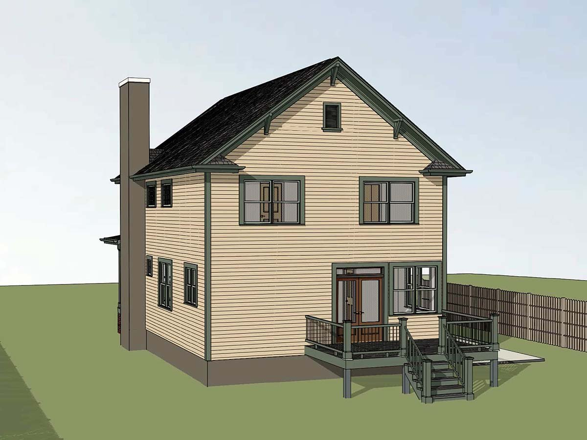 Colonial, Country, Narrow Lot, Southern House Plan 75588 with 3 Beds, 3 Baths Picture 1