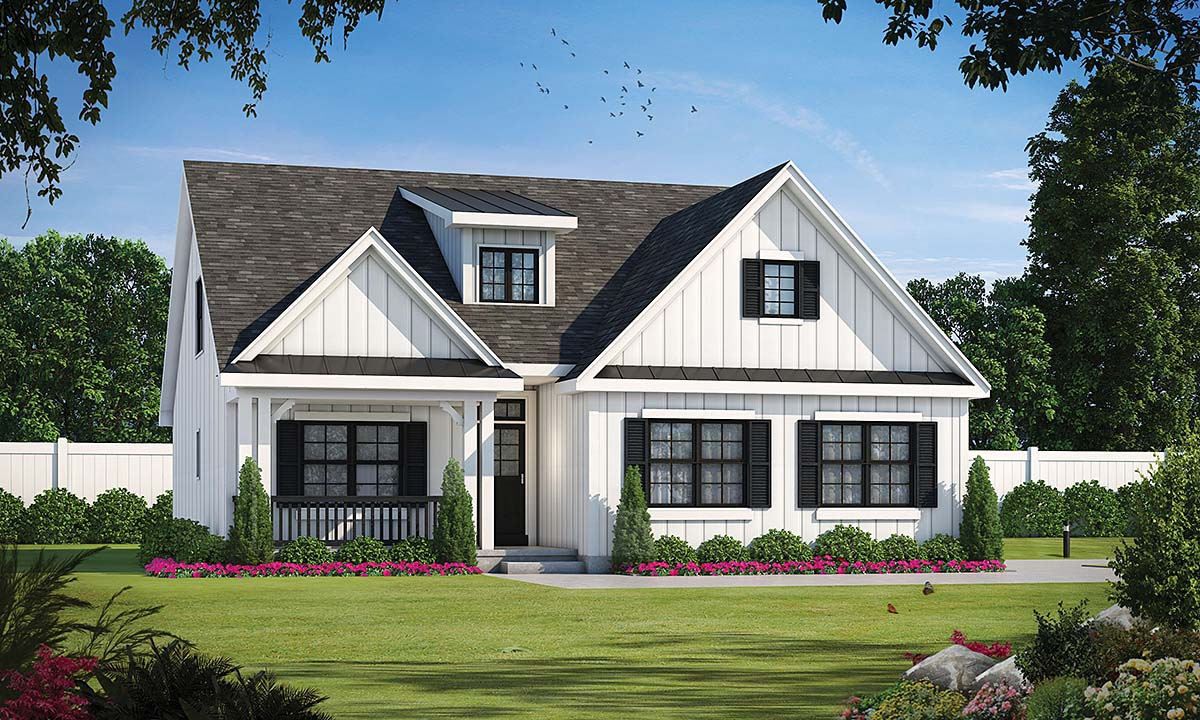 Modern Farmhouse, Traditional House Plan 75705 with 4 Beds , 4 Baths , 2 Car Garage Elevation