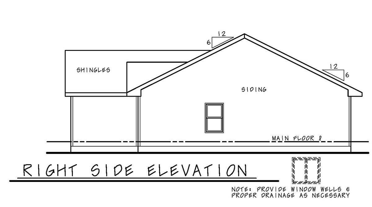 Narrow Lot, One-Story, Traditional House Plan 75706 with 3 Beds, 2 Baths, 2 Car Garage Picture 1