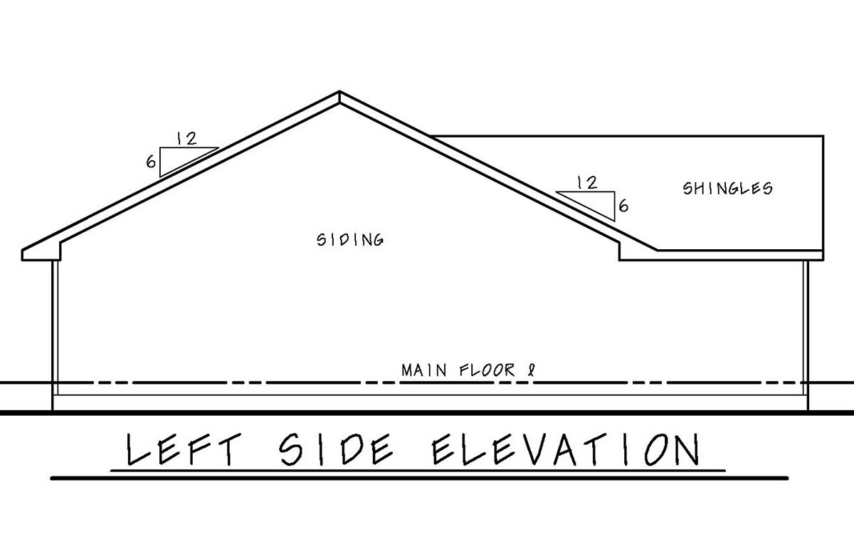 Narrow Lot, One-Story, Traditional House Plan 75706 with 3 Beds, 2 Baths, 2 Car Garage Picture 2
