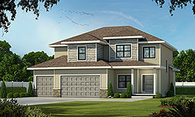 Bungalow , Craftsman , Traditional House Plan 75708 with 4 Beds, 4 Baths, 3 Car Garage Elevation