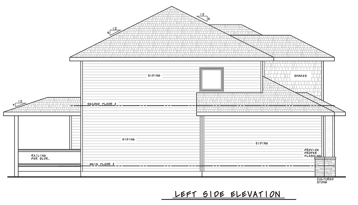 Bungalow, Craftsman, Traditional House Plan 75708 with 4 Beds, 4 Baths, 3 Car Garage Picture 2