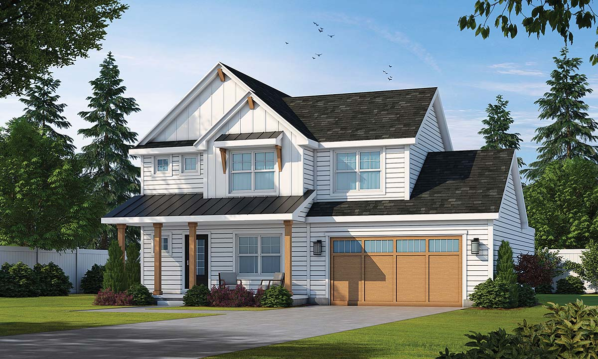 Country, Modern Farmhouse House Plan 75709 with 4 Beds , 4 Baths , 2 Car Garage Elevation