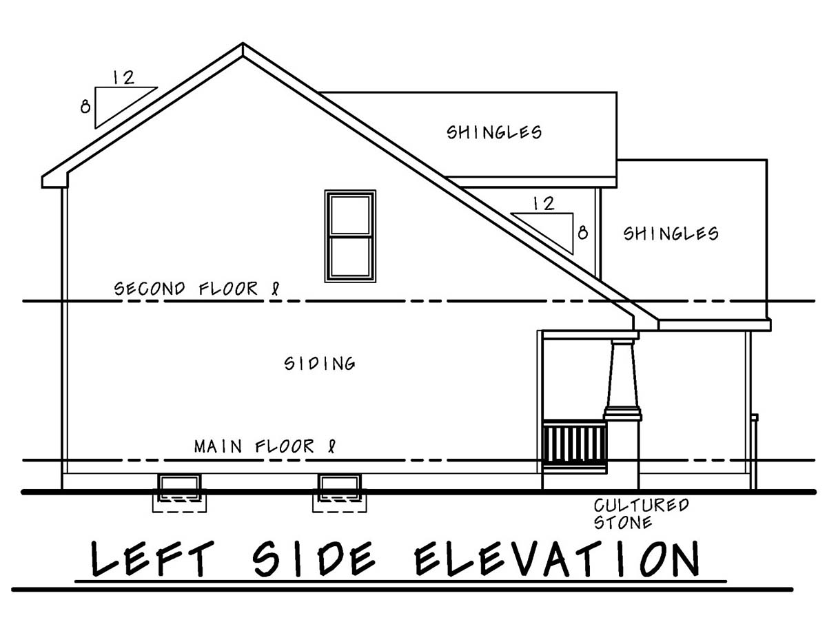 Craftsman, Traditional House Plan 75718 with 4 Beds, 3 Baths, 2 Car Garage Picture 2