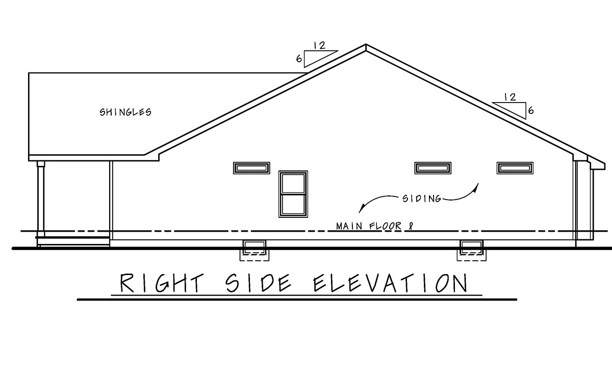 Farmhouse, Ranch, Traditional House Plan 75720 with 3 Beds, 2 Baths, 2 Car Garage Picture 1