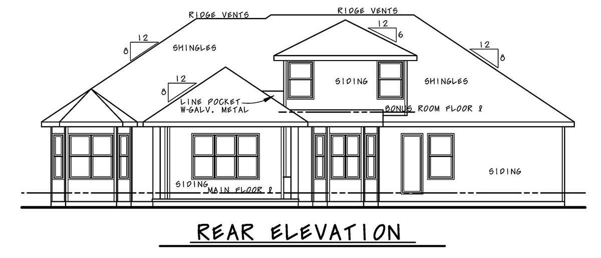 Mediterranean House Plan 75721 with 4 Beds, 5 Baths, 2 Car Garage Rear Elevation