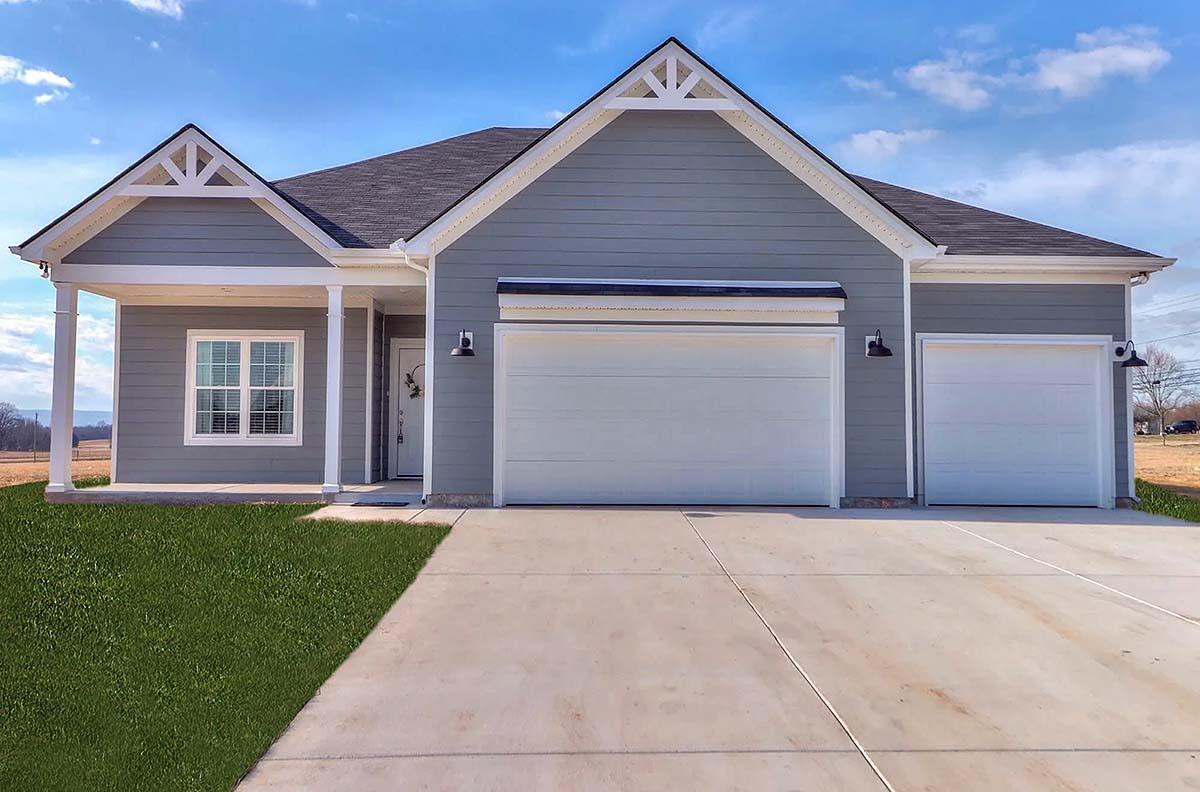 Farmhouse House Plan 75724 with 3 Beds, 3 Baths, 3 Car Garage Elevation