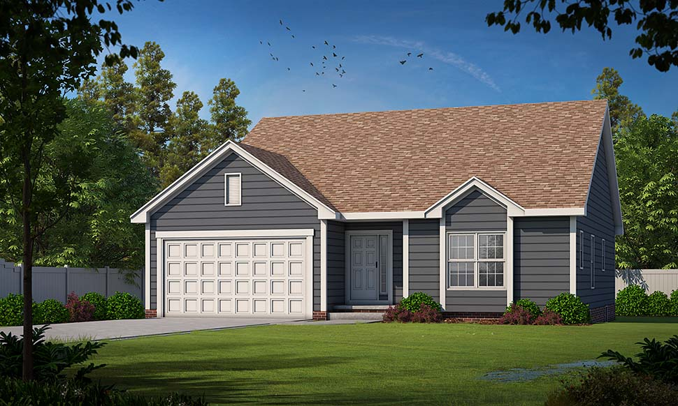 Traditional House Plan 75726 with 3 Beds, 3 Baths, 2 Car Garage Picture 4