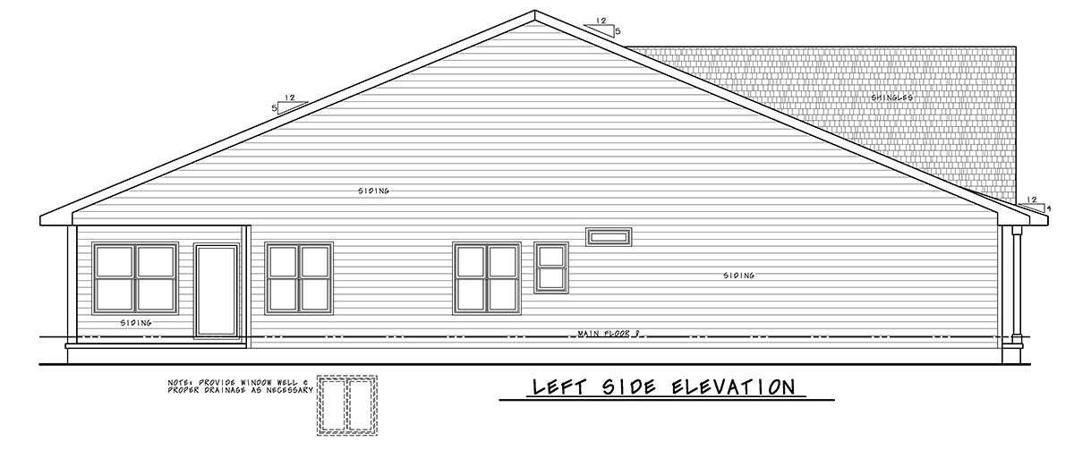 Traditional House Plan 75729 with 2 Beds, 3 Baths, 2 Car Garage Picture 2