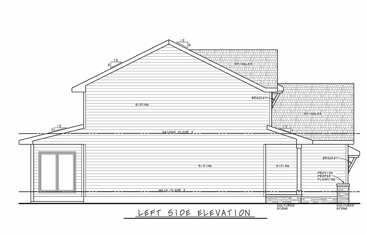 Farmhouse House Plan 75734 with 3 Beds, 3 Baths, 2 Car Garage Picture 2