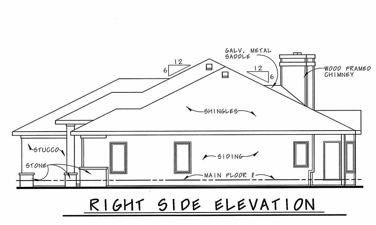 Mediterranean House Plan 75738 with 1 Beds, 2 Baths, 2 Car Garage Picture 1