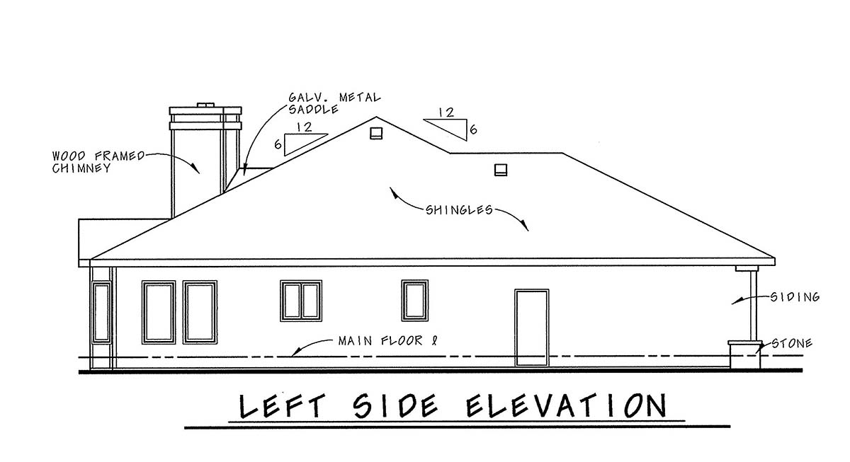 Mediterranean House Plan 75738 with 1 Beds, 2 Baths, 2 Car Garage Picture 2